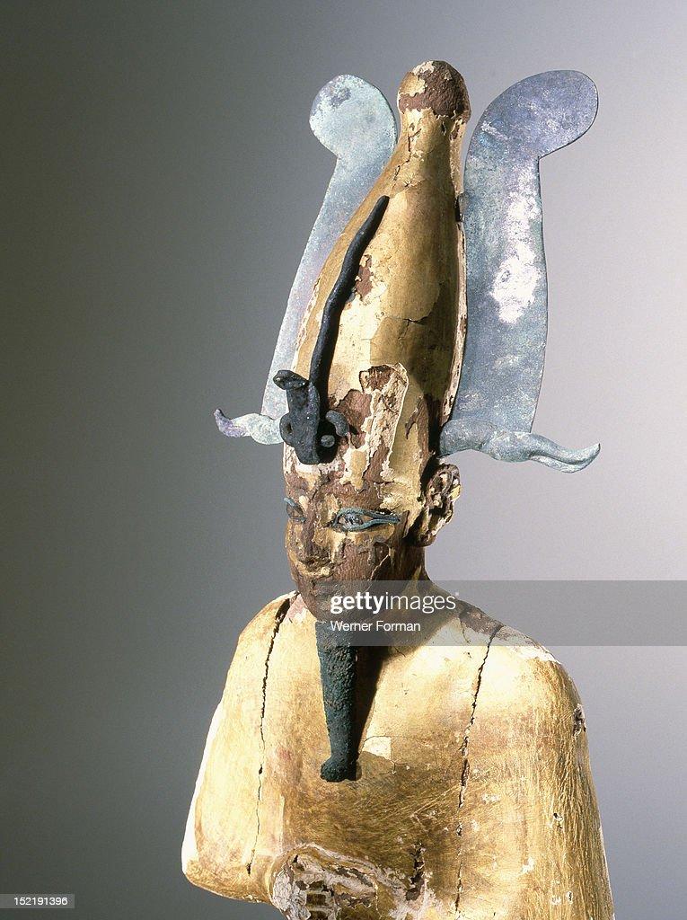 Gilt wood statue of Osiris god of death resurrection and fertility Egypt Pharaonic 22nd Dynasty 3rd Intermediate Period 945 715 BC