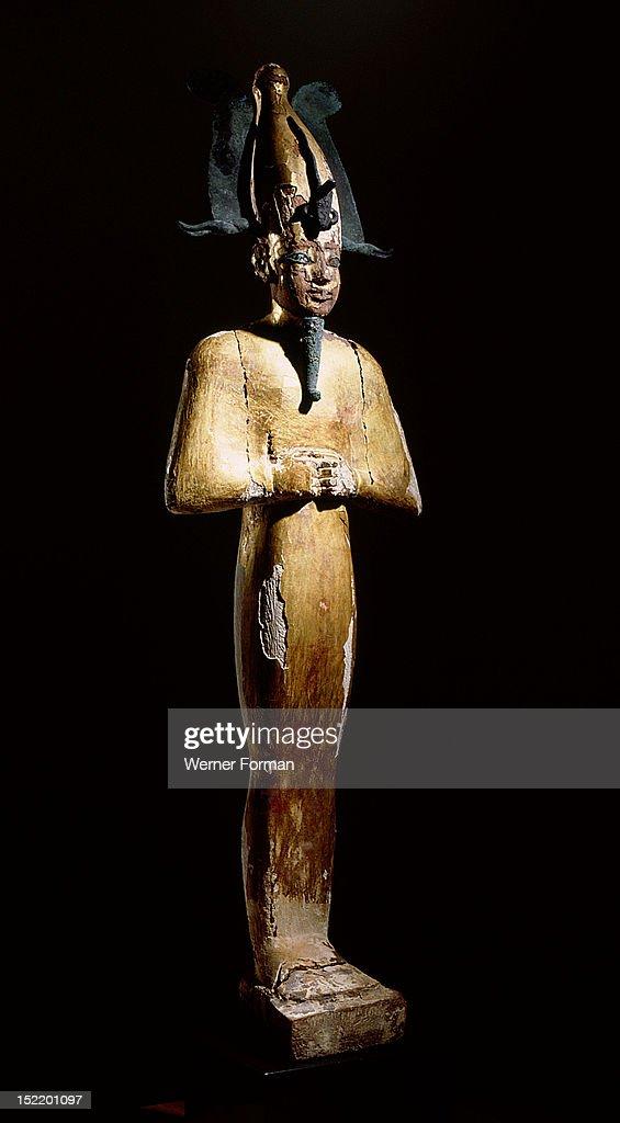 Gilt wood statue of Osiris god of death resurrection and fertility Egypt Ancient Egyptian 3rd Intermediate Period 945 715 BC 22nd dynasty