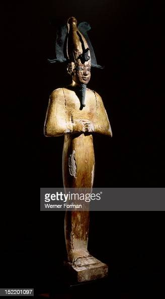 Gilt wood statue of Osiris god of death resurrection and fertility Egypt Ancient Egyptian 3rd Intermediate Period 945 715 BC 22nd dynasty