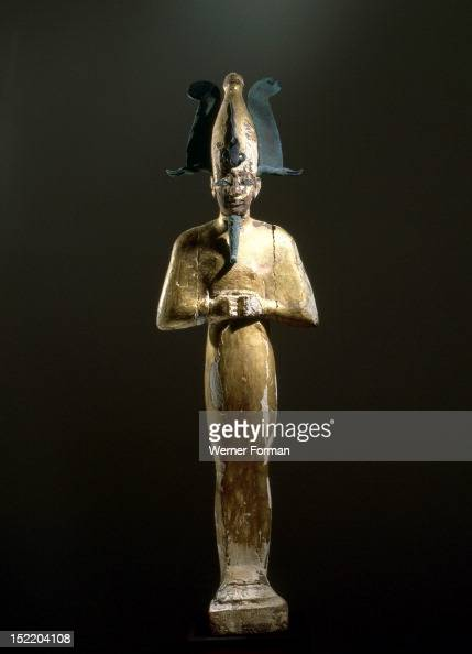 Gilt wood statue of Osiris god of death resurrection and fertility Egypt Pharaonic 22nd Dynasty 3rd Intermediate Period 945 715 BC