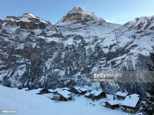 Gimmelwald in Winter