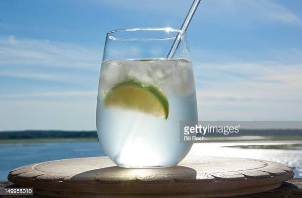 Gin and tonic by the sea