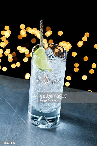 Gin and tonic in glass