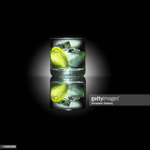 Gin and Tonic on Black