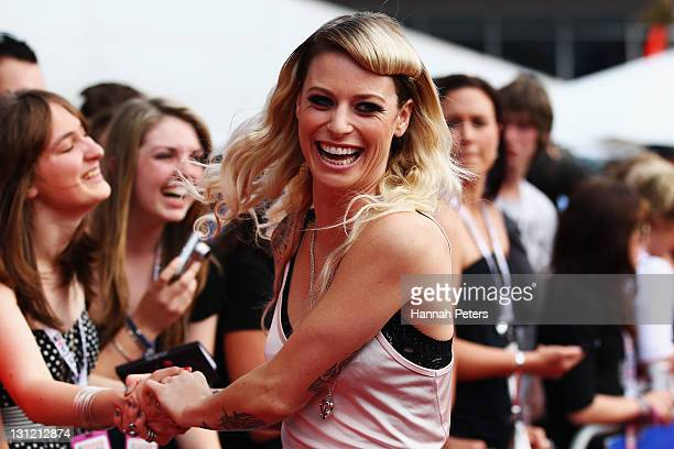 Gin Wigmore arrives for the 2011 Vodafone Music Awards at Vector Arena on November 3 2011 in Auckland New Zealand