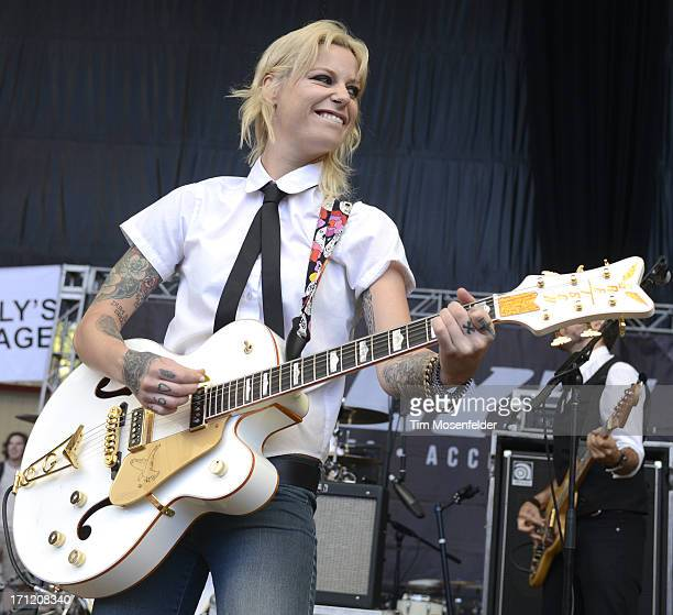 Gin Wigmore performs as part of the Vans Warped Tour at Shoreline Amphitheatre on June 22 2013 in Mountain View California