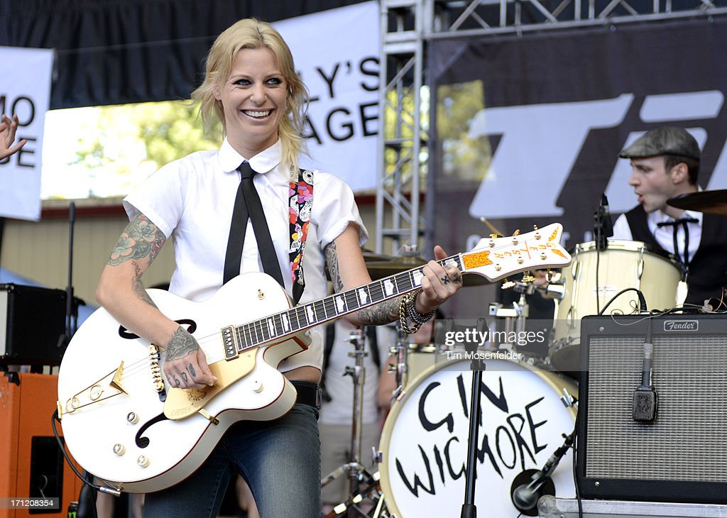 Gin Wigmore performs as part of the Vans Warped Tour at Shoreline Amphitheatre on June 22, 2013 in Mountain View, California.