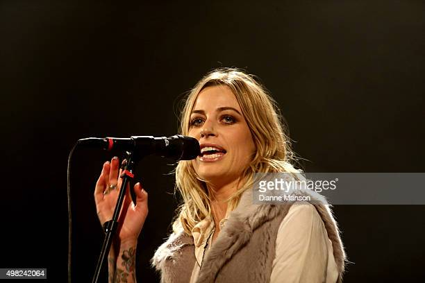 Gin Wigmore performs on stage during her Blood To Bone NZ Tour at the Civic Theatre on November 22 2015 in Invercargill New Zealand