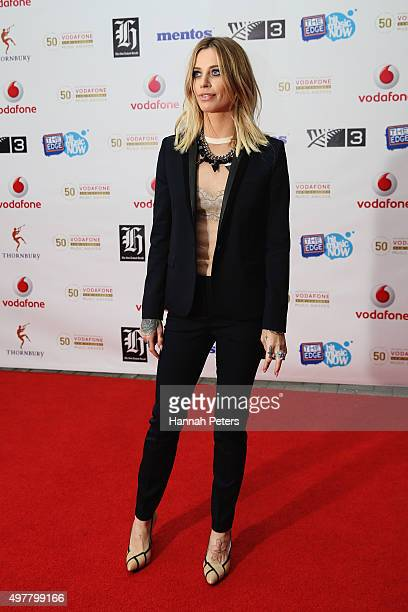 Gin Wigmore poses for a photo on the red carpet at the Vodafone New Zealand Music Awards at Vector Arena on November 19 2015 in Auckland New Zealand