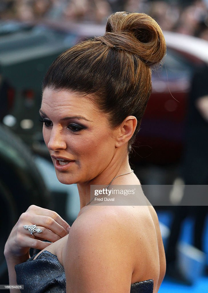 Gina Carano attends The UK Film Premiere of The Fast And The Furious 6 at The Empire Cinema on May 7, 2013 in London, England.