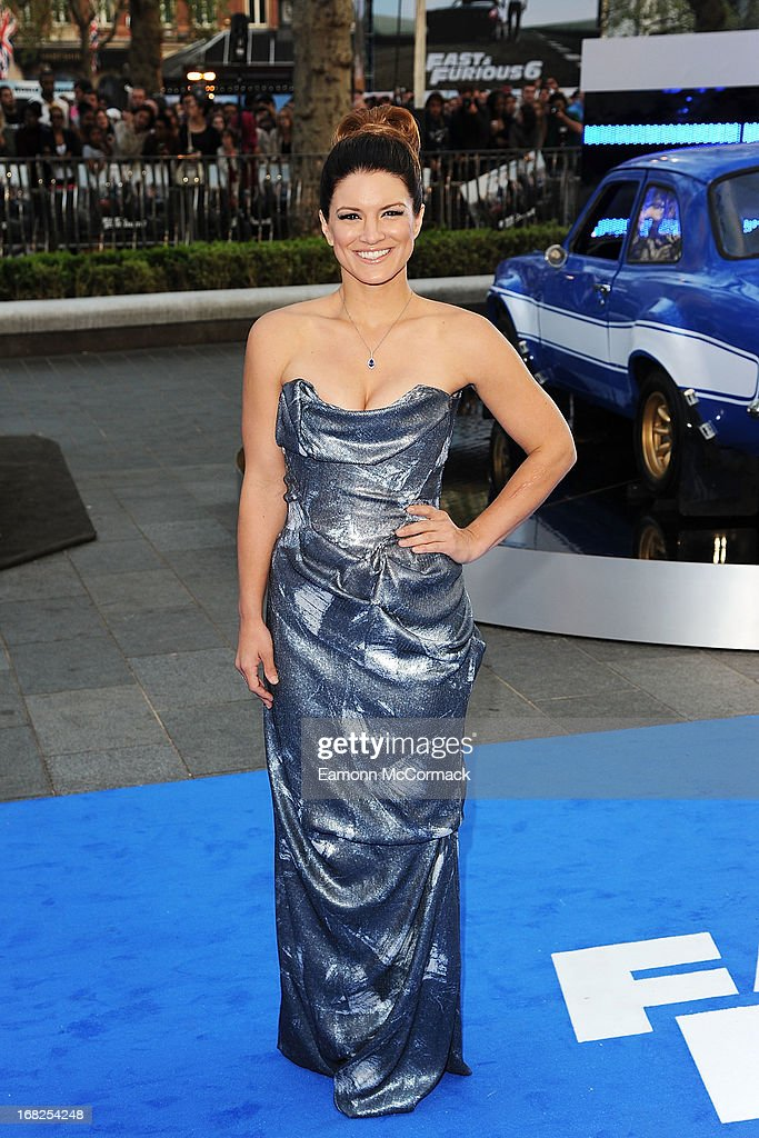Gina Carano attends the World Premiere of 'Fast & Furious 6' at Empire Leicester Square on May 7, 2013 in London, England.