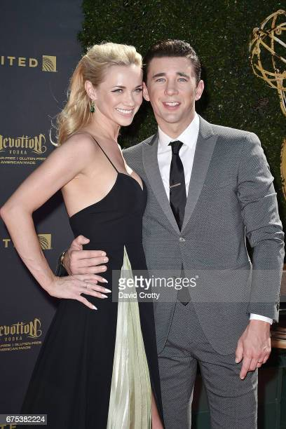 Gina Comparetto and Billy Flynn attend the 44th Annual Daytime Emmy Awards at Pasadena Civic Auditorium on April 30 2017 in Pasadena California
