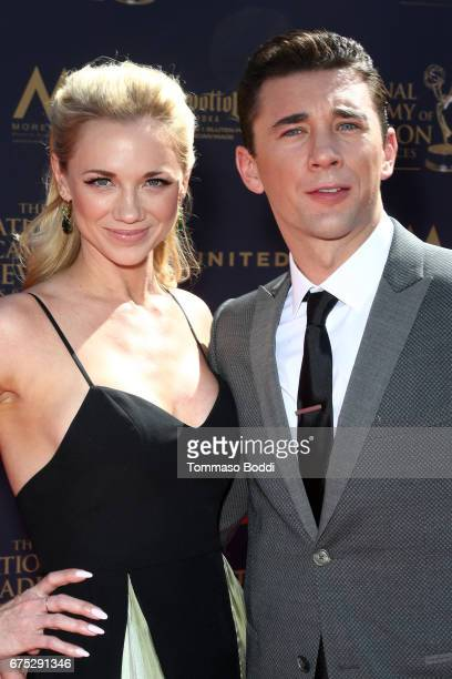 Gina Comparetto and Billy Flynn attends the 44th Annual Daytime Emmy Awards at Pasadena Civic Auditorium on April 30 2017 in Pasadena California