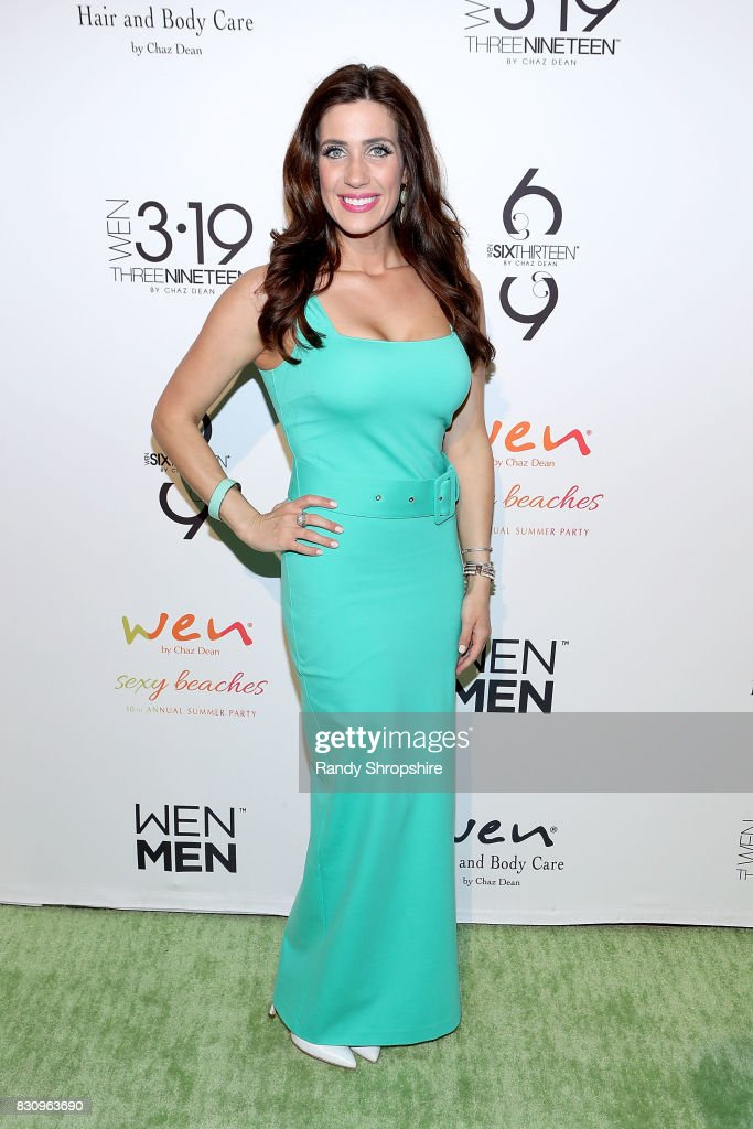 Gina Gannon attends Chaz Dean summer party benefiting Love Is Louder on August 12, 2017 in Los Angeles, California.