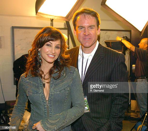 Gina Gershon and Brian Philips senior vice president/general manager of CMT