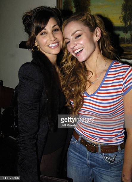 Gina Gershon and Drea De Matteo during 2005 HBO PreGolden Globe Awards Party in Los Angeles California United States