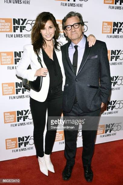 Gina Gershon and Griffin Dunne attend a special screening of 'Joan Didion The Center Will Not Hold' during the 55th New York Film Festival at Alice...