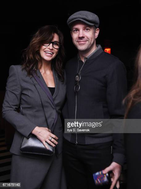 Gina Gershon and Jason Sudeikis attend the After Party for Permission Sponsored by Heineken during 2017 Tribeca Film Festival at UpDown on April 22...
