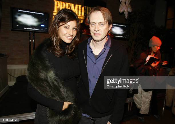 Gina Gershon and Steve Buscemi during 2007 Park City 'Delirious' Premiere After Party hosted by Premiere Magazine at the Premiere Lounge at...