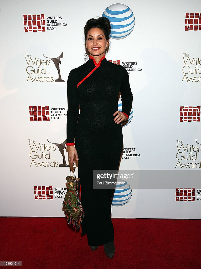 Gina Gershon attends 65th Annual Writers Guild East Coast Awards at B.B. King Blues Club & Grill on February 17, 2013 in New York City.