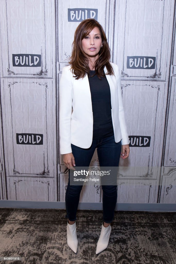 Gina Gershon attends Build Presents to discuss '9/11' at Build Studio on September 7, 2017 in New York City.