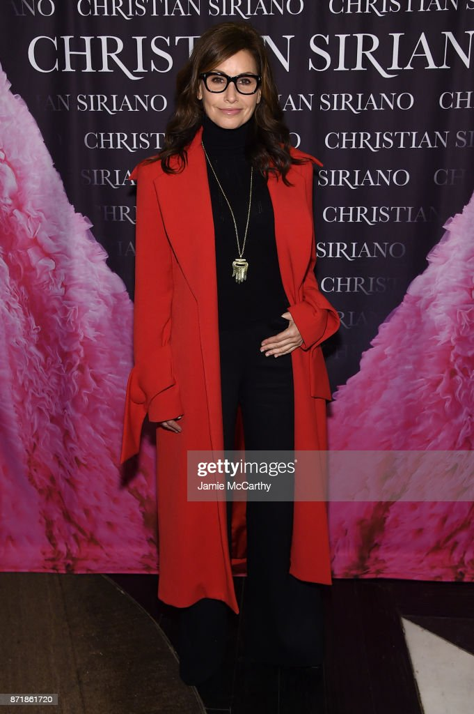 Gina Gershon attends Christian Siriano celebrates the release of his book 'Dresses To Dream About' at the Rizzoli Flagship Store on November 8, 2017 in New York City.