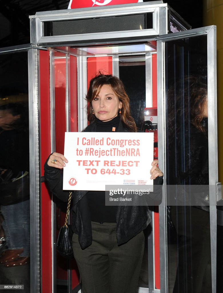 Gina Gershon attends #RejectTheNRA Campaign Launch the at The Standard, High Line on October 18, 2017 in New York City.
