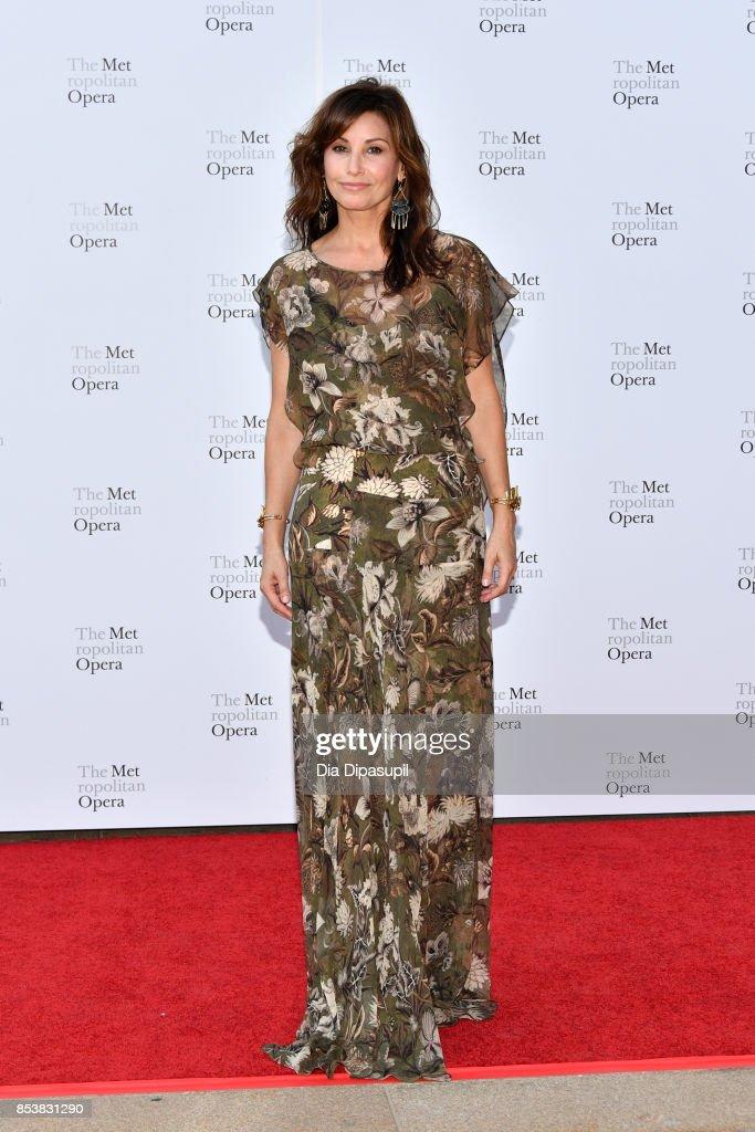 Gina Gershon attends the 2017 Metropolitan Opera Opening Night at The Metropolitan Opera House on September 25, 2017 in New York City.