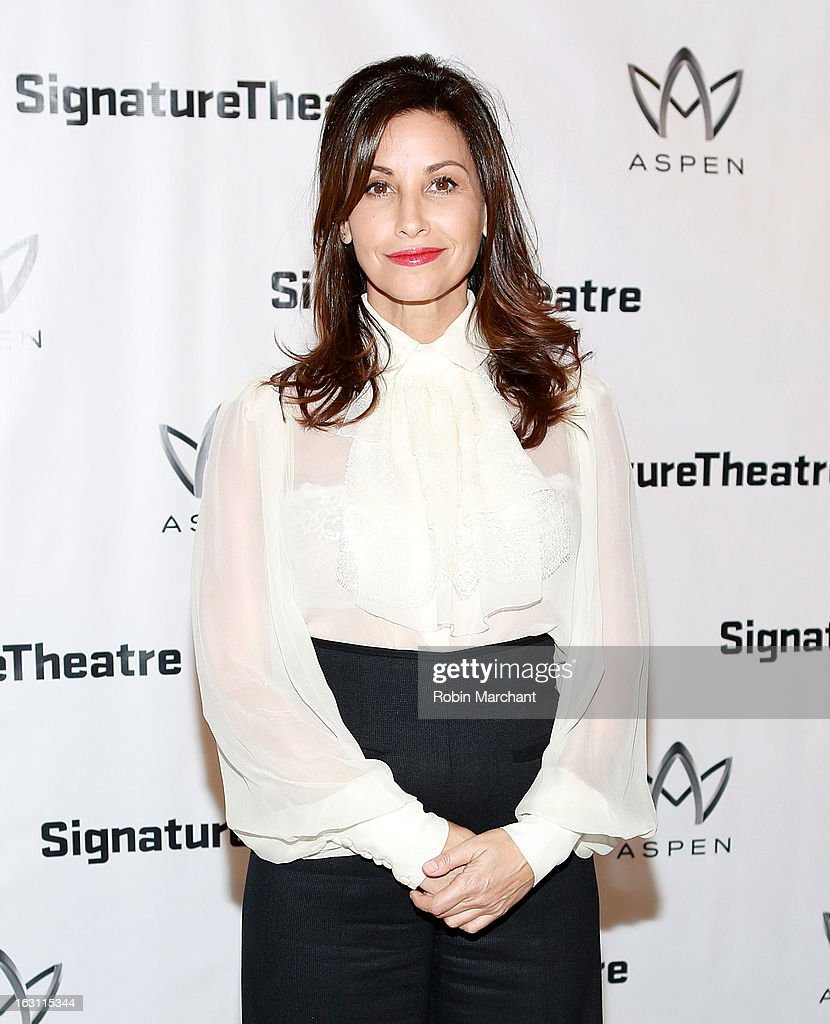 <a gi-track='captionPersonalityLinkClicked' href=/galleries/search?phrase=Gina+Gershon&family=editorial&specificpeople=203099 ng-click='$event.stopPropagation()'>Gina Gershon</a> attends the 'Old Hats' Opening Night at Signature Theatre Company's The Pershing Square Signature Center on March 4, 2013 in New York City.