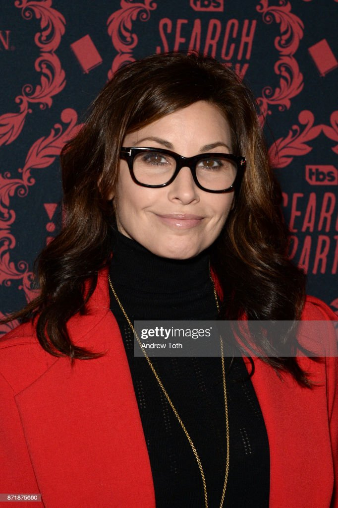 Gina Gershon attends the season 2 premiere of 'Search Party' at Public Arts at Public on November 8, 2017 in New York City.