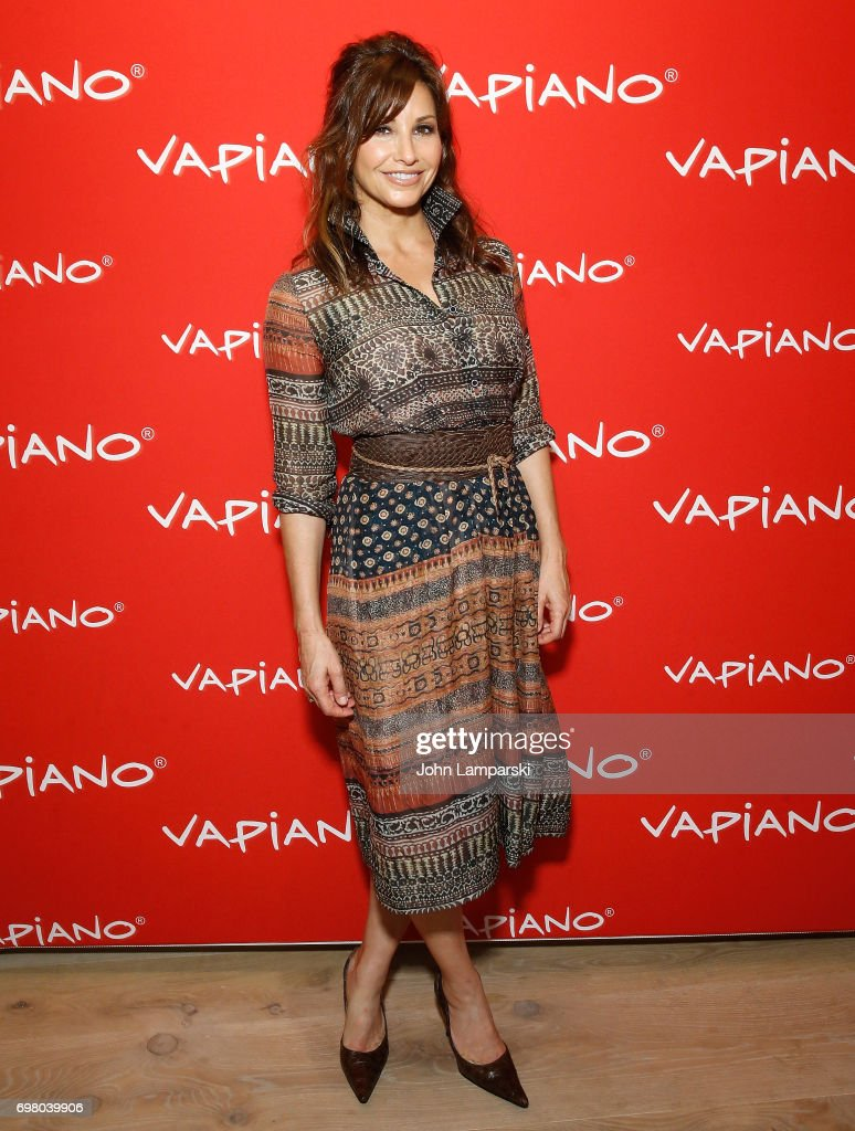 Gina Gershon attends Vapiano Grand Re-Launch Party at Vapiano on June 19, 2017 in New York City.