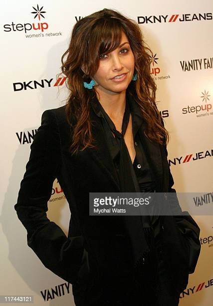 Gina Gershon during DKNY Jeans Presents Vanity Fair 'In Concert' to Benefit Step Up Women's Network Show at Irving Plaza in New York City New York...