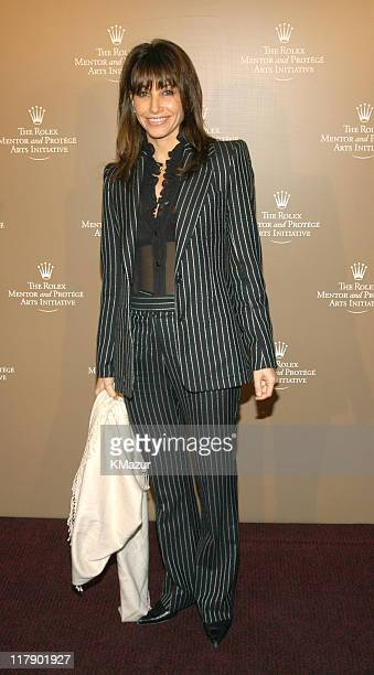 Gina Gershon during Rolex Mentor Protege Arts Initiative at State Theater at Lincoln Center in New York City New York United States