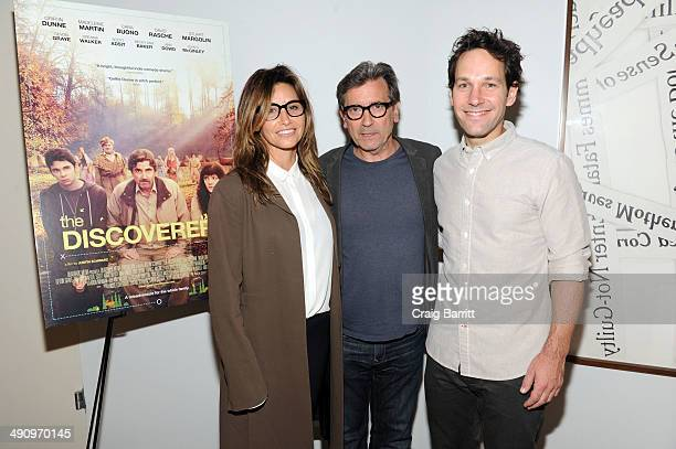 Gina Gershon Griffin Dunne and Paul Rudd attend 'The Discoverers' New York screening at The Core Club on May 15 2014 in New York City