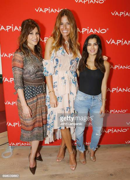 Gina Gershon Kelly Bensimon and Diane Guerrero attend Vapiano Grand ReLaunch Party at Vapiano on June 19 2017 in New York City