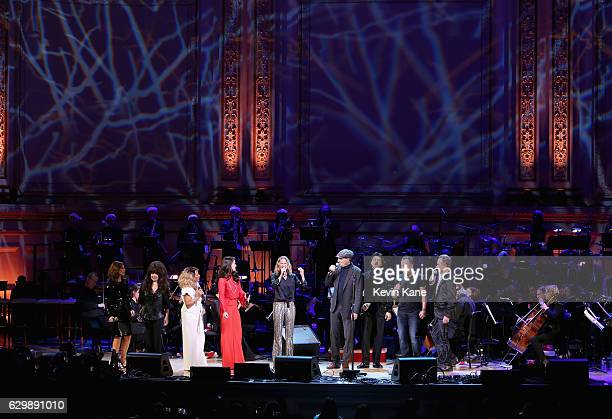 Gina Gershon Ronnie Spector Darlene Love Idina Menzel Jennifer Nettles James Taylor Vittorio Grigolo Bruce Springsteen and Sting perform onstage...