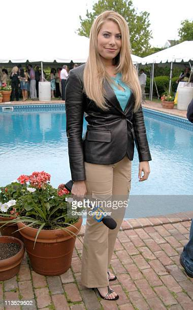 Gina Glickman of 'Long Island News 12' during Haley and Jason Binn 5th Annual Memorial Day Party at Private Residence of Haley and Jason Binn in...