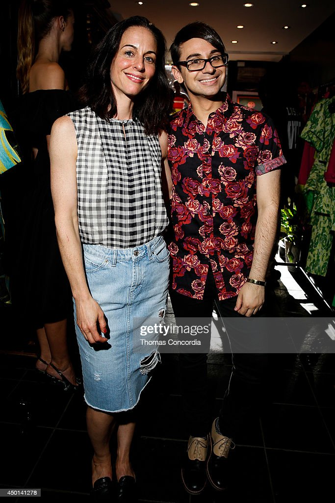 Gina Kelly and Christian Siriano the Christian Siriano resort 2015 preview party on June 5 2014 in New York City