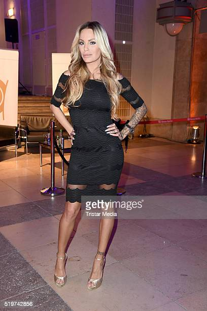 Gina Lisa Lohfink attends the Echo Award 2016 after show party on April 07 2016 in Berlin Germany