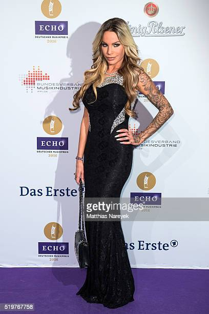 Gina Lisa Lohfink attends the Echo Award 2016 on April 7 2016 in Berlin Germany