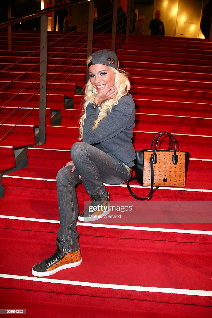 Gina Lisa Lohfink attends the musical premiere of 'The Great Dance Of Argentina' at Musical Dome Cologne on January 3, 2015 in Cologne, Germany.