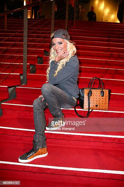Gina Lisa Lohfink attends the musical premiere of 'The Great Dance Of Argentina' at Musical Dome Cologne on January 3 2015 in Cologne Germany