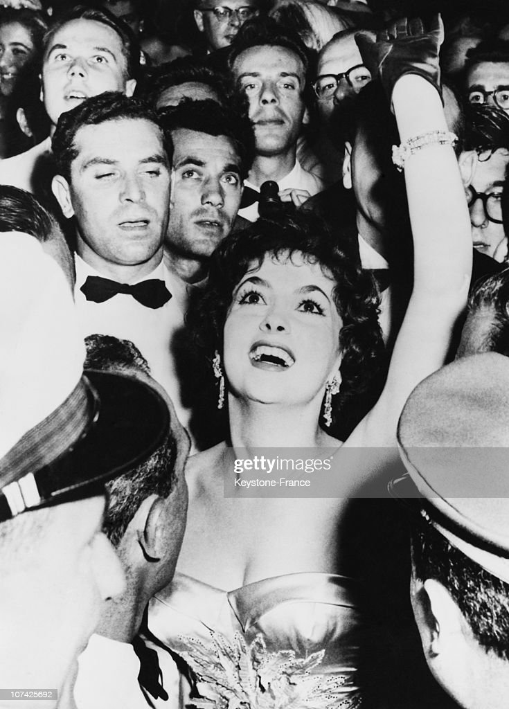 Gina Lollobrigida At The Inauguration Of The Venice International Film Festival On August 1956