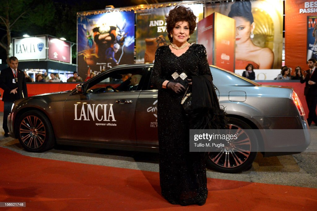 Gina Lollobrigida attends the 7th Rome Film Festival at Lancia Cafe on November 16, 2012 in Rome, Italy.