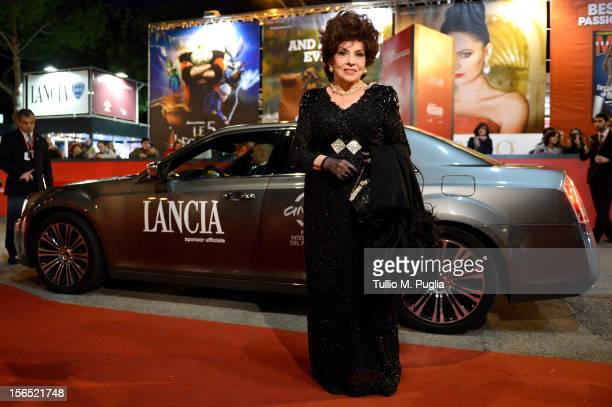Gina Lollobrigida attends the 7th Rome Film Festival at Lancia Cafe on November 16 2012 in Rome Italy