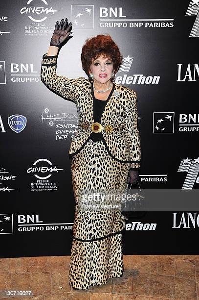 Gina Lollobrigida attends the Telethon Gala during the 6th International Rome Film Festival at the Casina Valadier on October 28 2011 in Rome Italy