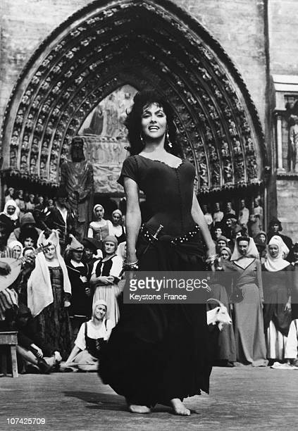 Gina Lollobrigida In A Scene From The Hunchback Of Notre Dame Movie On November 1967