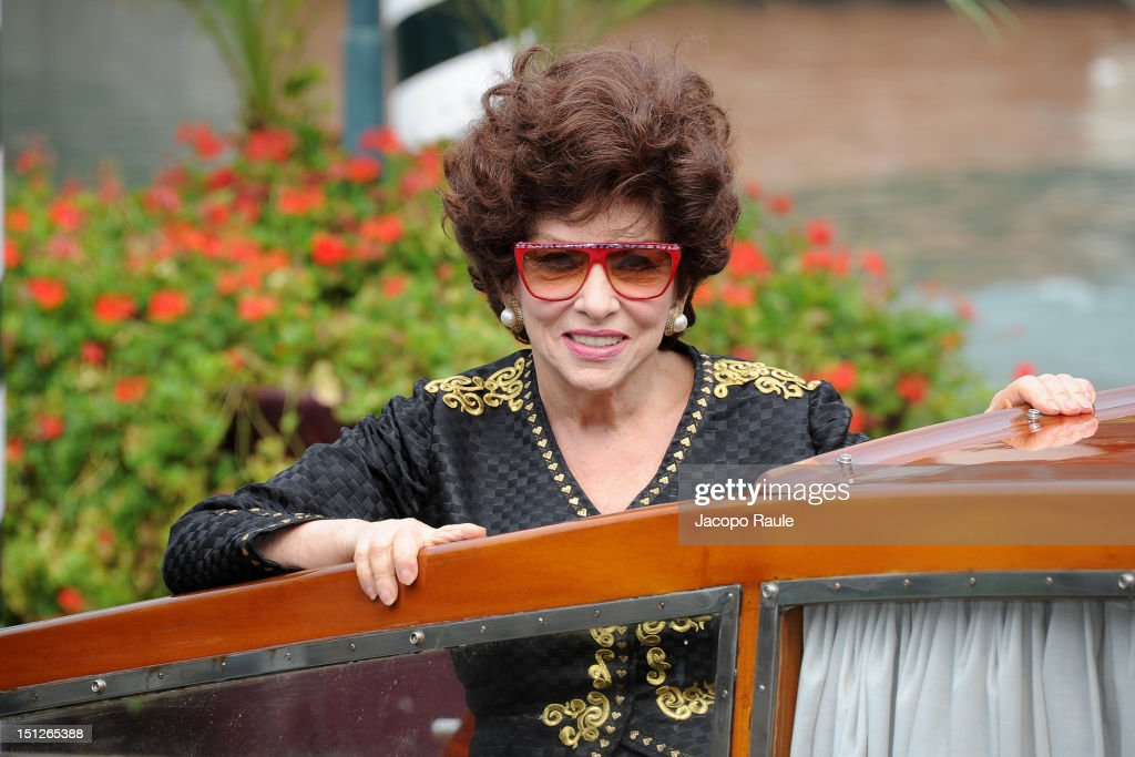 Gina Lollobrigida is seen during The 69th Venice Film Festival on September 5, 2012 in Venice, Italy.