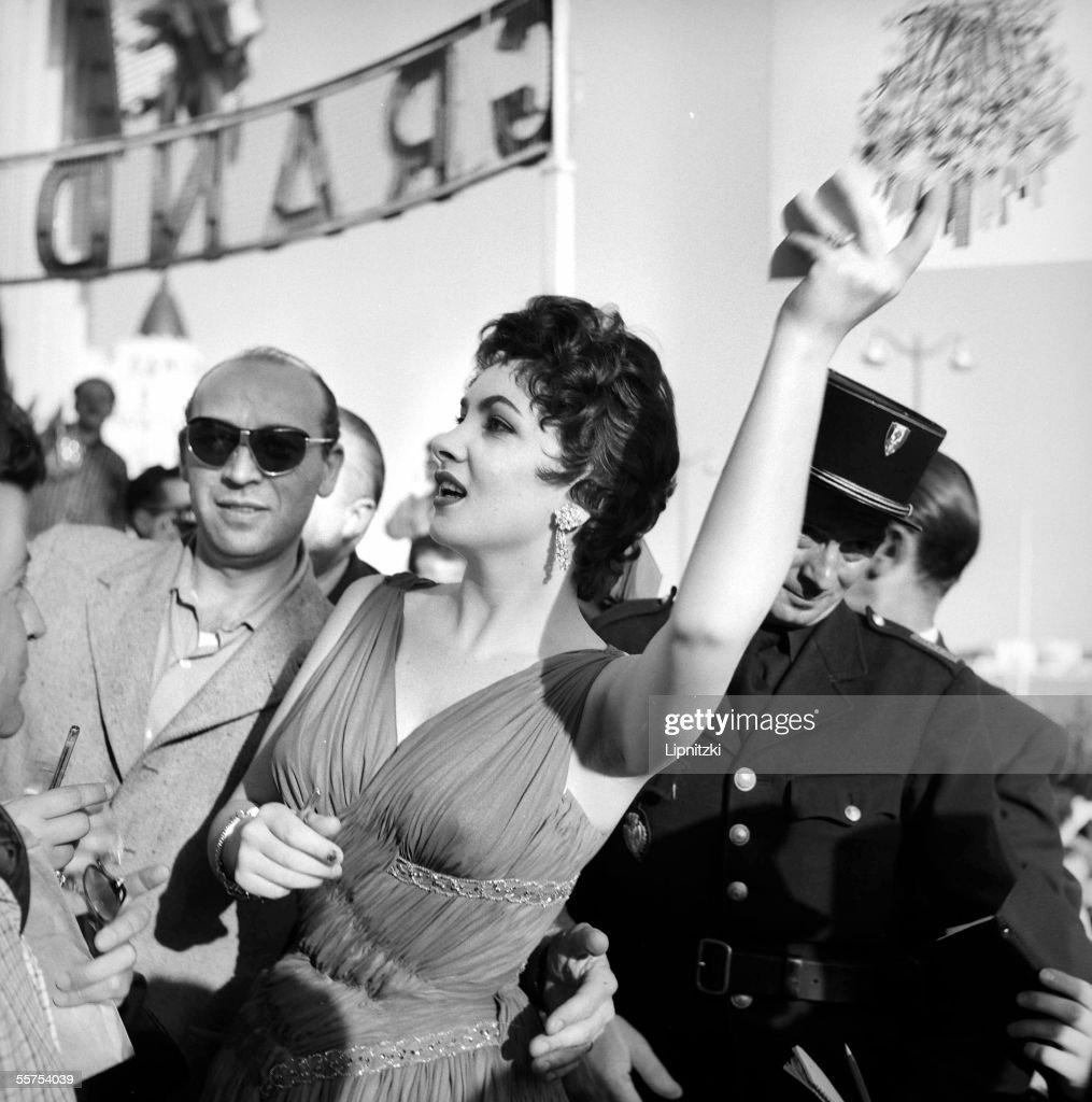 Gina Lollobrigida, Italian actress, in the Cannes film festival. 1955. LIP