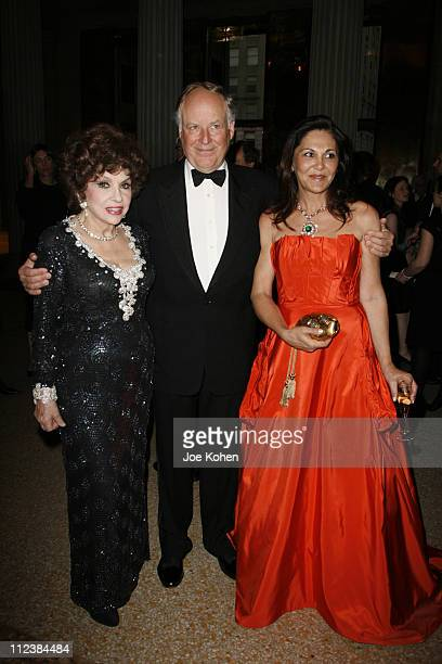 Gina Lollobrigida Nicola Bulgari and Beatrice Bulgari